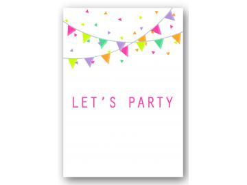 """Wandbild """"let's party"""""""