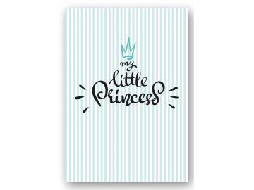 "Wandbild ""my little princess"" stripes türkis"
