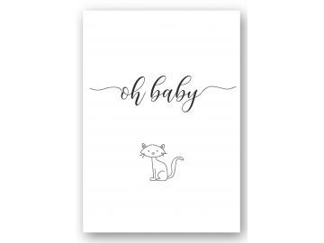"Wandbild ""oh Baby"" mit Katze"