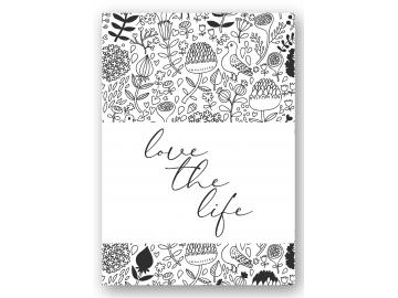 "Wandbild ""love the life"""