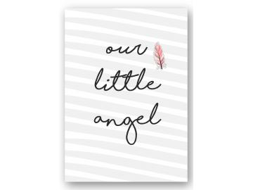"""Wandbild """"our little angel"""" feder"""