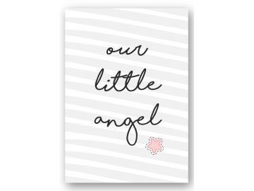 "Wandbild ""our little angel"" stern"