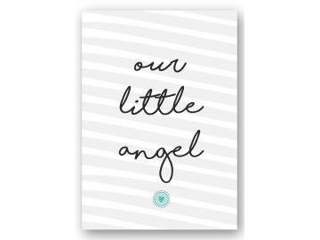 """Wandbild """"our little angel"""" herz"""